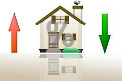 贷款的价格的上升和秋天的例证r的 免版税图库摄影