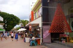 贸易在海滨del卡门,墨西哥 免版税图库摄影