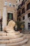 贸易的广场 驳船 普利亚或普利亚 意大利 免版税库存照片