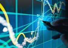 贸易的网上股份分配 免版税图库摄影