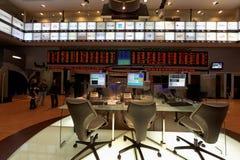 贸易的面板在Bovespa巴西证券交易市场上 免版税库存照片