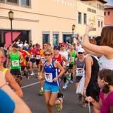 费埃特文图拉岛半iiird国际马拉松 免版税库存照片