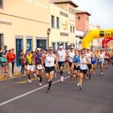 费埃特文图拉岛半iiird国际马拉松 免版税图库摄影
