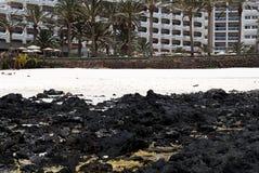 费埃特文图拉岛海滩 免版税库存照片