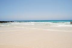 费埃特文图拉岛海滩 免版税图库摄影