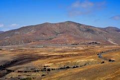 费埃特文图拉岛,加那利群岛,西班牙横向  免版税库存图片