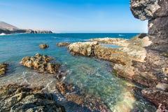 费埃特文图拉岛, Ajuy洞在加那利群岛,西班牙 库存图片