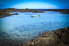 费埃特文图拉岛Isla de los罗伯斯Bay 1 库存图片