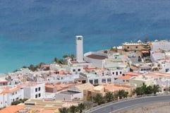 费埃特文图拉岛jable morro西班牙城镇 免版税库存照片