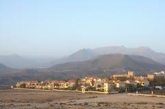 费埃特文图拉岛la削去了西班牙村庄 免版税库存照片