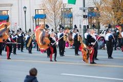 费城, PA - 2017年11月23日:每年感恩天游行在中心城市费城, PA 库存图片