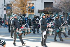 费城, PA - 2017年11月23日:每年感恩天游行在中心城市费城, PA 库存照片
