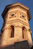 费尔莫镇,意大利 老钟楼门面 图库摄影