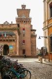 费拉拉城堡 免版税库存照片