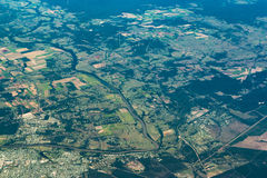 费沙尔海岸地区鸟瞰图  昆士兰,澳洲 免版税库存照片