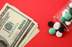 费用医疗保健上升 免版税库存图片