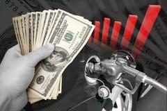 费用给上升加油 免版税库存照片
