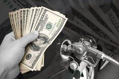 费用给上升加油 免版税图库摄影
