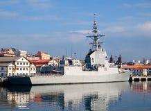 费罗尔半岛, SPAIN-FEBRUARY 16 : 大型驱逐舰F-103 库存照片