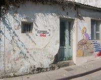 费罗尔半岛-西班牙,街道艺术Canido Meninas  免版税库存照片