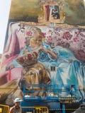 费罗尔半岛-西班牙,街道艺术Canido Meninas  图库摄影