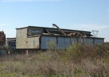 费雷洛钢铁制品废墟在Settimo Torinese 库存图片