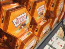 费雷洛Kusschen巧克力 库存照片
