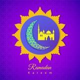 贺卡,邀请的回教社区圣洁月Ramada 库存例证