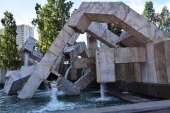 贾斯廷埃尔曼/Embarcadero广场Vaillancourt喷泉 库存图片