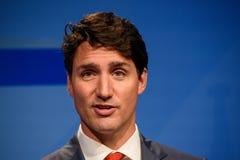 贾斯汀・杜鲁多,加拿大总理 库存图片