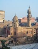 贾沃哈尔AlLala清真寺,开罗,埃及外部门面  库存照片