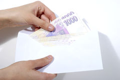 贿赂货币 库存照片