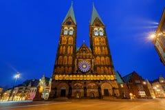 贿赂 主要市场正方形 布里曼大教堂 免版税图库摄影