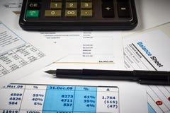 资产负债表和图 库存图片