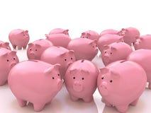 资助财政概念和财务的储款选择和人群 向量例证