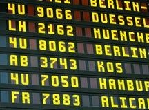 资料显示在机场 免版税库存图片