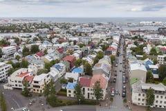 资本冰岛雷克雅未克 免版税库存图片