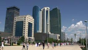 资本哈萨克斯坦的中央大道 股票录像