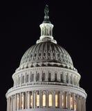 资本圆顶在晚上 免版税库存图片