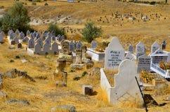 资本墓地fes摩洛哥回教老 库存图片
