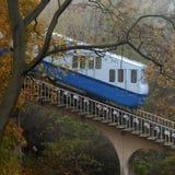 资本缆索铁路的kyiv乌克兰 免版税库存照片