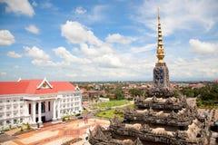 资本老挝万象 免版税库存图片