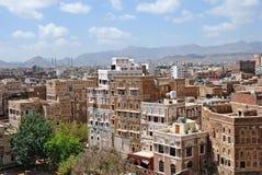 资本老萨纳也门 库存图片