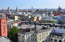 资本联邦莫斯科多数人口众多的俄国地平线主题 免版税库存照片