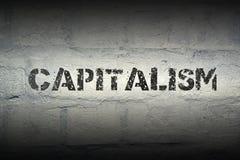资本主义词毕业 库存照片