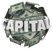 资本3d词贷款资助财务金钱球 库存例证