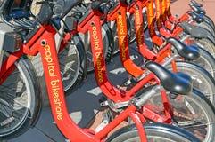 资本bikeshare,在华盛顿特区的一个自行车份额节目 免版税库存照片