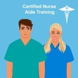 经资格认定的护士助手训练概念,传染媒介例证 库存图片
