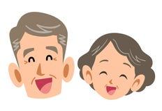 资深加上微笑,成熟老年人 向量例证