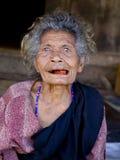 资深印度尼西亚妇女 库存照片